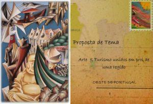 Bilhete Postal - Postal (obra de Nuno Confraria) e Selo (obra de Jorge Rebelo)