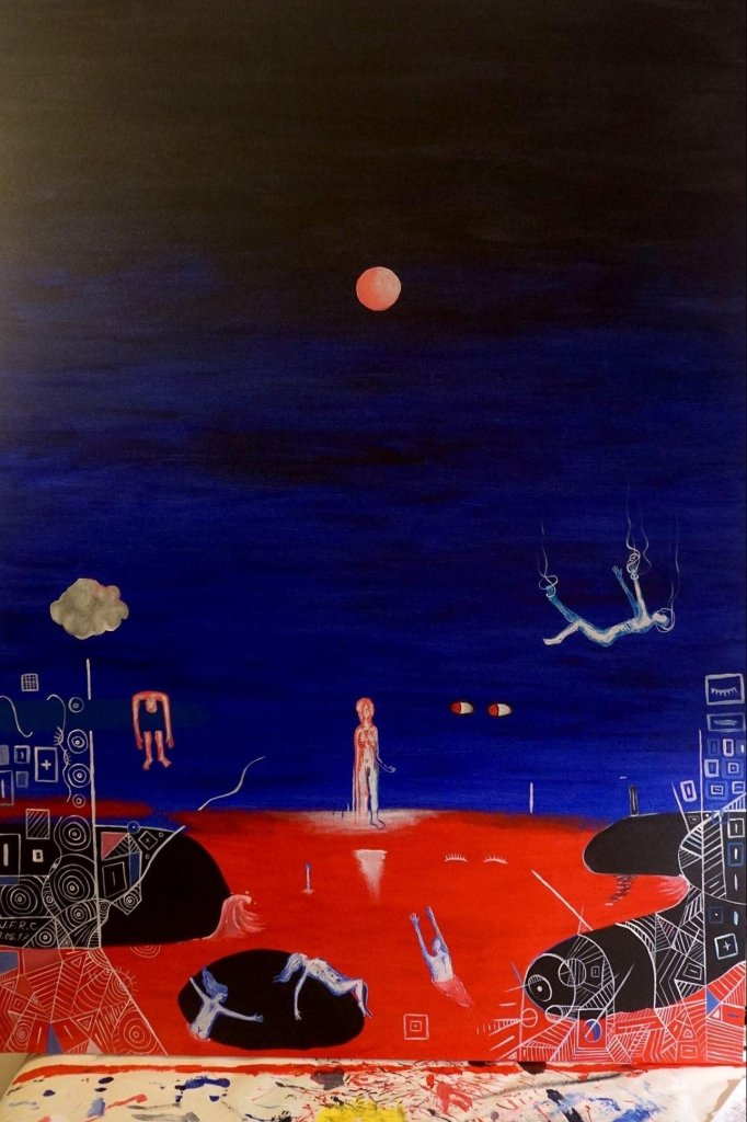 Dos sonhos que tive, foste o mais belo (pintura) de Júlio F. R. Costa