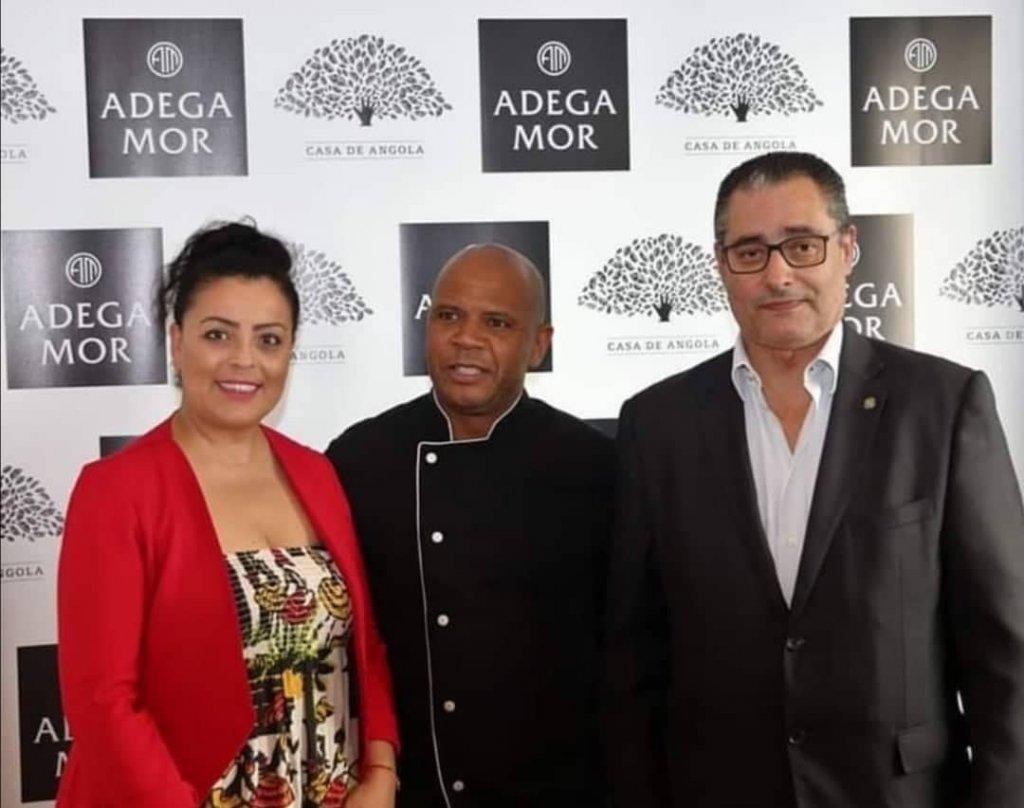 A equipa da Casa de Angola. Marcia Dias, Paulo Soares e Zeferino Boal