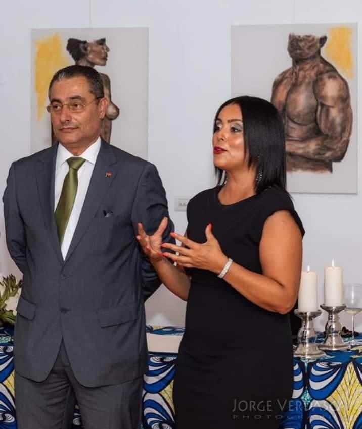 Casa de Angola - Zeferino Boal, Presidente e Marcia Dias Diretora Cultural