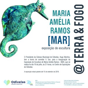 """Exposição de escultura sob o tema """"@Terra & Fogo"""" de MAR"""