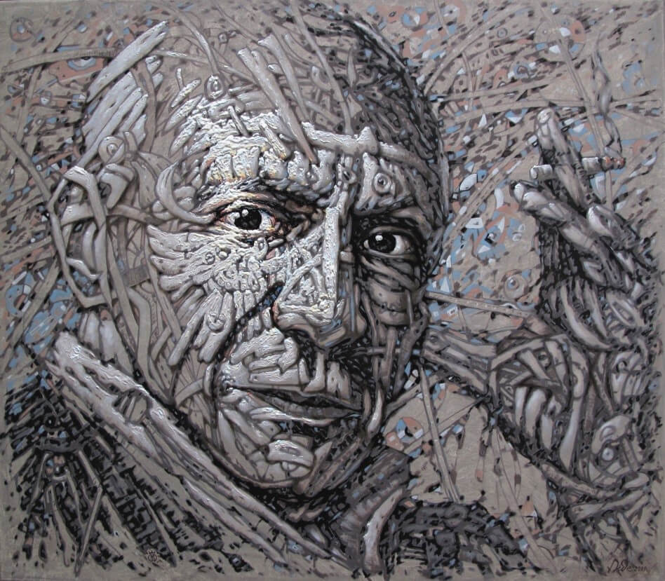 """""""Pablo Picasso"""", óleo s/tela, 70x80cm, 2019, Bogdan Dide."""