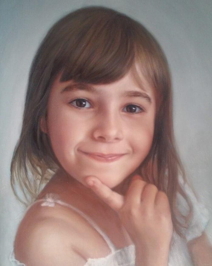 Retrato, óleo s/tela, 30x40cm, obra de Bogdan Dide