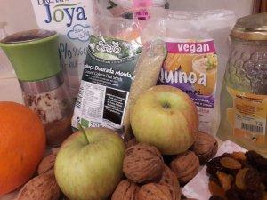 Bolo de maçã e quinoa receita de Hucilluc