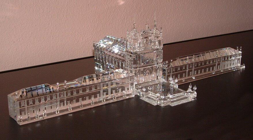 Escultura em Cristal de autoria de Jorge Lamuria, Mosteiro de Alcobaça em 3D
