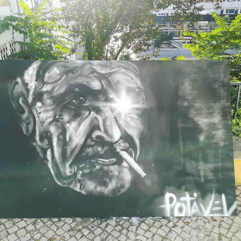 Mural - obra de Duarte Burnay