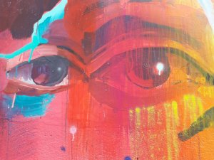 Detalhe de Pintura de Misterpiro (Lx-Factory Lisboa)