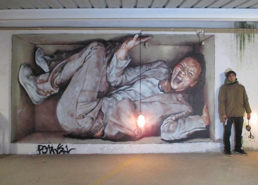 Mural de autoria de Duarte Burnay