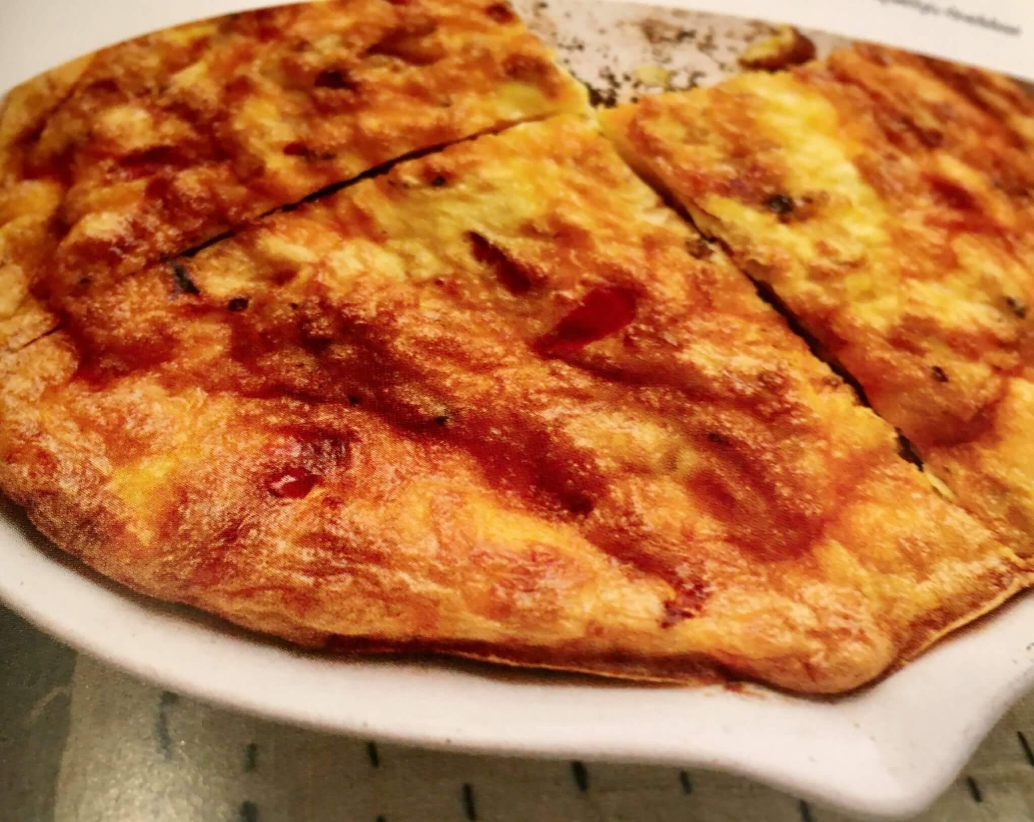 tortilha de pimentos vermelhos