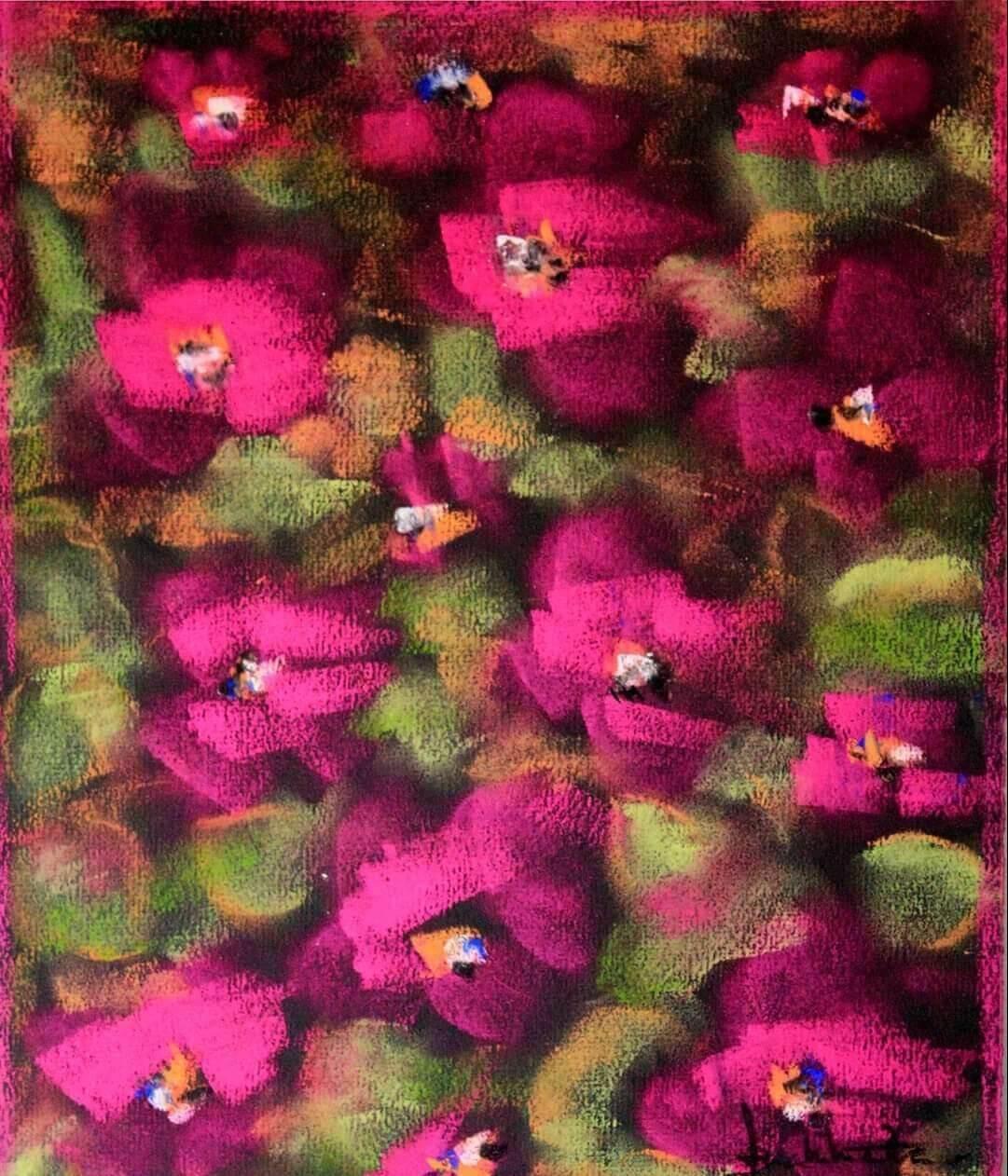 Flores da primavera numa Obra de Ana Malta
