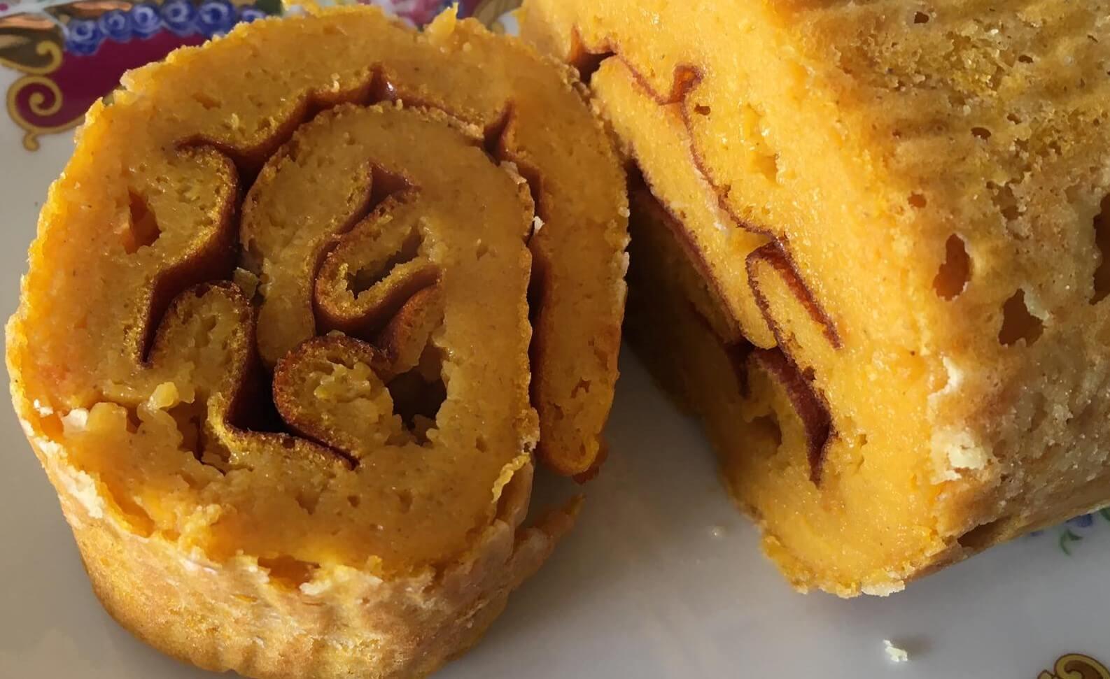 Uma fatia de torta de cenoura, uma receita de Hucilluc