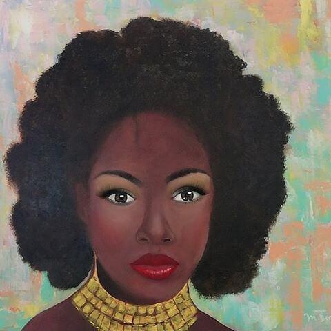 Rosto Africano-Obra de Marcia Dias