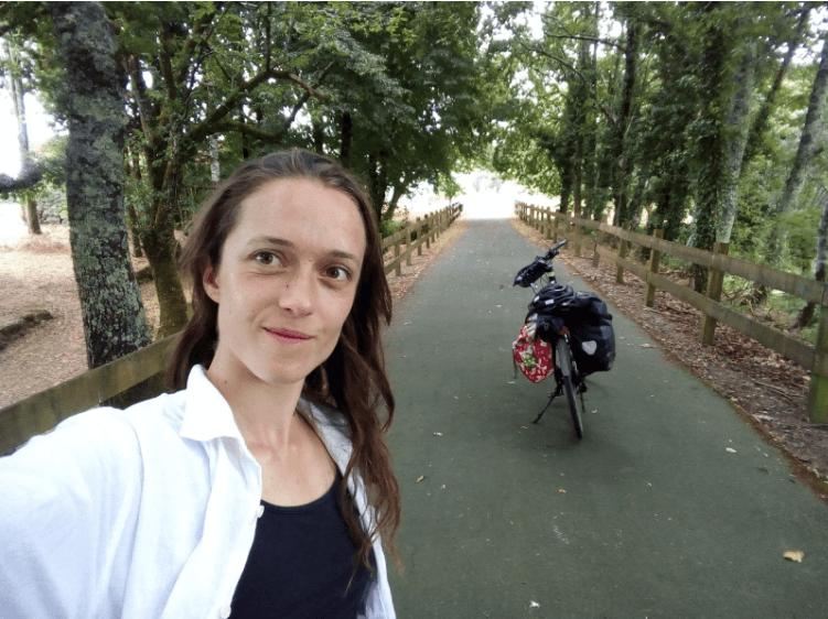 Cicloviagem por pistas coloridas - Piso verde