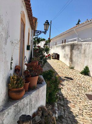 Ruas em torno do castelo de Salir